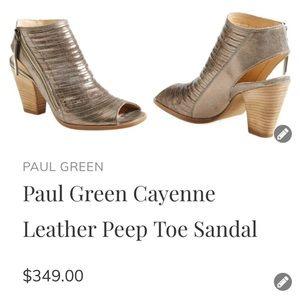 Paul Green Cayenne leather peeptoe sling back